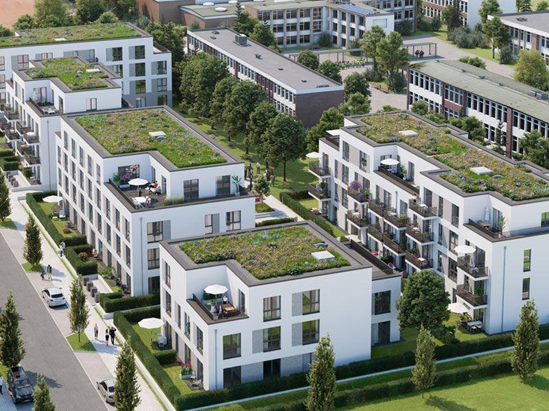 Projekt Süderfeldpark Hamburg - KiTa, Studentenapartments und Wohnungen - Quelle: Illustrationen © ZBI Zentral Boden Immobilien Gruppe